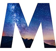 The Letter M - night sky Photographic Print