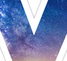 The Letter M - night sky Sticker