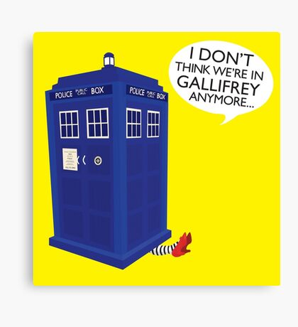 I Don't Think We're in Gallifrey Anymore... Canvas Print