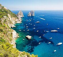 Rocks of Capri by George Oze