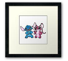 Stitch and Angel Framed Print