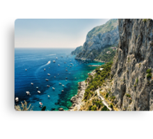Capri Coastline Canvas Print