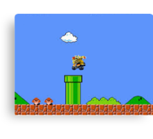Bowser Chasing Mario Canvas Print