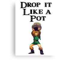 Drop it like a pot! Zelda Shirt Metal Print