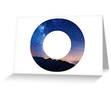 The Letter O - night sky Greeting Card