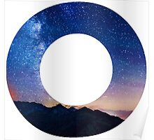 The Letter O - night sky Poster