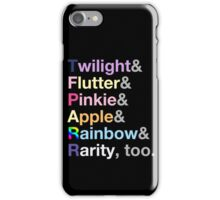 Ponies. iPhone Case/Skin