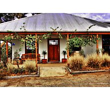 Open for business - Halls Gap Vineyard Photographic Print