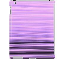 Purple black stripes  iPad Case/Skin