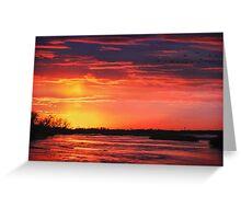 Platte River Sunset Greeting Card