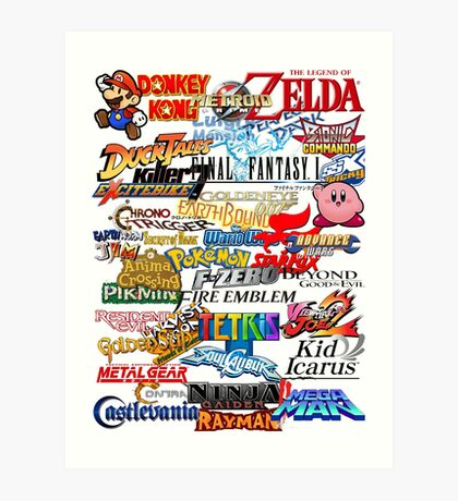 Retro Nintendo Titles  Art Print