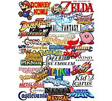 Retro Nintendo Titles  Photographic Print