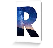 The Letter R - night sky Greeting Card
