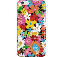 Colorful Whimsical Spring Flowers Garden iPhone Case/Skin
