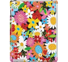 Colorful Whimsical Spring Flowers Garden iPad Case/Skin