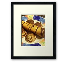 chocolate cigars and shortbread cookies Framed Print