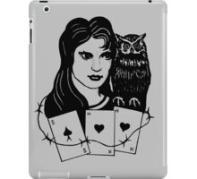 Woman with Owl iPad Case/Skin