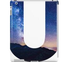The Letter U - night sky iPad Case/Skin