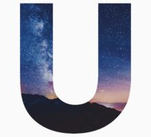 The Letter U - night sky Kids Clothes