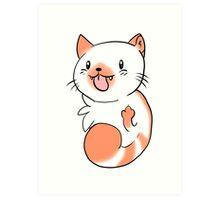 Flame Point Chibi Cat Art Print