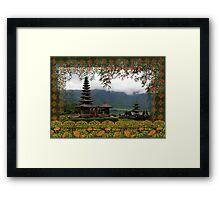 Bali Batik, Hindu Temple, Bali, Indonesia Framed Print