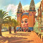 Luna Park with palms by Michael Matthews
