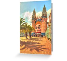 Luna Park with palms Greeting Card