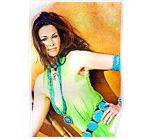 Carmen in Green Turquoise Poster