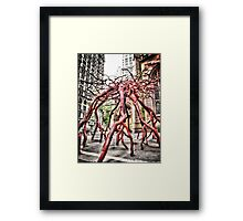 Trinity Root Sculpture Framed Print