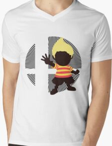 Lucas (Smash 4 Render) - Sunset Shores Mens V-Neck T-Shirt