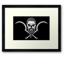 Skull and Thrones Framed Print