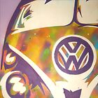Purple VW Combi Van by Laura Fowler