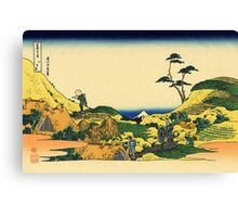 'Shimomeguro' by Katsushika Hokusai (Reproduction) Canvas Print