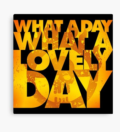 What a lovely day Canvas Print