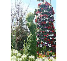 Elsa Topiary Flower and Garden Festival- Epcot Photographic Print