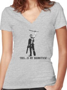 This...is my Boomstick! (Ash - Army of Darkness) Women's Fitted V-Neck T-Shirt