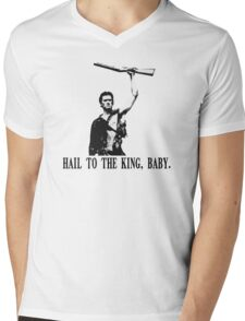 Hail to the King, Baby (Ash - Army of Darkness) Mens V-Neck T-Shirt