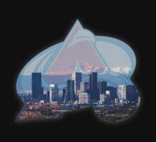 Colorado Avalanche and Denver Skyline by ColoradoHughes