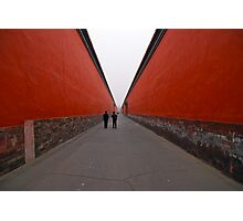 The long red road Photographic Print
