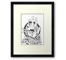 old seeing eye and hand- posterus Framed Print