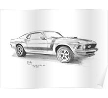 1970 Ford Mustang Fastback 302 Poster