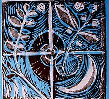 Blue Equilibrium by Gudrun Eckleben