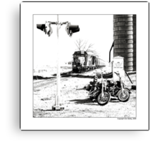"""""""Steel Rails and Iron Horses"""" Canvas Print"""