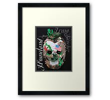 Homeland Security Sugar Mask Framed Print