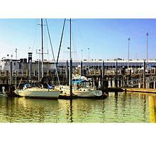 Sailboats on Sunlit Waters Photographic Print