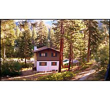 Chalet in the forest Photographic Print
