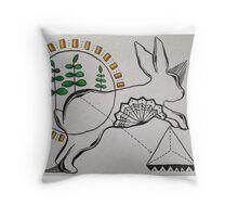 jump bunny jump Throw Pillow