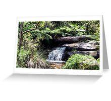 Waterfall at Araluen Botanic Park. Western Australia Greeting Card