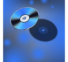 DVD Disk in 3D view Photographic Print