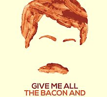 Ron Swanson (Nick Offerman) - A Breakfast Hero by chocollama